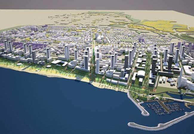 הדמיה - תוכנית שדה דב, קרדיט רשות מקרקעי ישראל